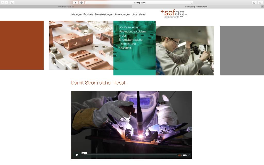 Imagefilm für die Sefag auf der Webseite